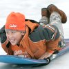 WINTER / COLD / WEATHER / ICE STORM: 11 yr-old Jonathan Hill slides down a hill at Will Rogers park in Oklahoma City , Okla. Dec. 10, 2007. BY STEVE GOOCH, THE OKLAHOMAN. ORG XMIT: KOD
