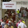 Fans wait in line during the University of Oklahoma\'s Meet the Sooners Day at Gaylord Family-Oklahoma Memorial Stadium in Norman, Okla., Saturday, August 6, 2011. Photo by Bryan Terry, The Oklahoman