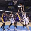 Los Angeles\' Kobe Bryant puts up a shot over Oklahoma City\'s Serge Ibaka and Nick Collison during Game 2 in the second round of the NBA playoffs between the Oklahoma City Thunder and the L.A. Lakers at Chesapeake Energy Arena on Wednesday, May 16, 2012,in Oklahoma City, Oklahoma. Photo by Chris Landsberger, The Oklahoman
