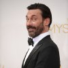 Jon Hamm arrives at the 66th Annual Primetime Emmy Awards at the Nokia Theatre L.A. Live on Monday, Aug. 25, 2014, in Los Angeles. (Photo by Richard Shotwell/Invision/AP)