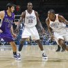 REGULAR SEASON OPENING NIGHT: Oklahoma City\'s Kevin Durant (35) drives the ball past the Kings\' Omri Casspi (18) during opening night of the Oklahoma City Thunder NBA basketball game against the Sacramento Kings at the Ford Center on Wednesday, Oct. 28, 2009, in Oklahoma City, Okla. Photo by Chris Landsberger, The Oklahoman ORG XMIT: KOD