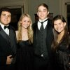 SAE\'S CELEBRATE 100....Barrett Bufkin, Rachel Hartman, Jordan Perry and Courtney Capshaw were at the Sigma Alpha Epison dinner and dance at the Oklahoma City Golf and Country Club. Active and alumni members celebrated the event. ( Photo by Steve Maupin.).