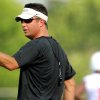 Head coach Mike Gundy during the first Oklahoma State University fall football practice, in Stillwater, Okla., Thursday, July 31, 2008. BY MATT STRASEN, THE OKLAHOMAN