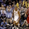 Oklahoma City\'s Kevin Durant reacts during the NBA basketball game between the Oklahoma City Thunder and the Chicago Bulls in the Oklahoma City Arena on Wednesday, Oct. 27, 2010. Photo by Bryan Terry, The Oklahoman
