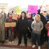 People protest at the Jefferson County Courthouse in Steubenville, Ohio, Saturday, Jan. 5, 2013. Authorities investigating rape accusations against two high school football players in eastern Ohio launched a website Saturday as interest in the case balloons, an extraordinary step designed to combat the misperception
