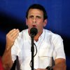 Venezuela\'s opposition leader Henrique Capriles speaks at a news conference at his office in Caracas, Venezuela, Wednesday, April 24, 2013. Capriles urged Venezuela\'s electoral commission to begin the audit of the April 14, 2013 disputed presidential vote, that handed Capriles\' rival, Nicolas Maduro, a razor-thin victory. (AP Photo/Fernando Llano)