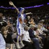 Sam Davis, 10, of Edmond, Okla., cheers during the NBA basketball game between Oklahoma City Thunder and San Antonio Spurs, Tuesday, April 7, 2009, at the Ford Center in Oklahoma CIty. Some seats in the arena will receive upgrades. Photo by Sarah Phipps, The Oklahoma