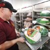 Food Service Manager Billy Belvin check the turkys for Thanksgiving dinner at Garcia Dinning Hall at Fort Sill, Wednesday, November 21, 2012. Photo By David McDaniel/The Oklahoman