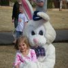 Raegan Reece and the Easter Bunny at the Oaktree Park Homeowner\'s Egg Hunt on 3/22/08. Community Photo By: pia allen Submitted By: michael, edmond