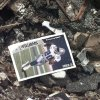 MAY 3, 1999 TORNADO: Football card in the rubble of Monday night\'s tornado damage in Moore. (Items left in aftermath)