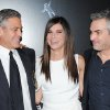 "Actor George Clooney, left, actress Sandra Bullock and director Alfonso Cuaron pose together at the premiere of ""Gravity"" at the AMC Lincoln Square Theaters on Tuesday, Oct. 1, 2013, in New York. (Photo by Evan Agostini/Invision/AP) ORG XMIT: NYEA127"