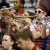 The OU band plays during a game between the University of Oklahoma and San Diego State in the second round of the NCAA men\'s college basketball tournament at the Wells Fargo Center in Philadelphia, Friday, March 22, 2013. San Diego State beat OU, 70-55. Photo by Nate Billings, The Oklahoman