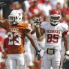 Oklahoma\'s Ryan Broyles (85) reacts as Texas\' Carrington Byndom (23) is flagged for pass interference during the Red River Rivalry college football game between the University of Oklahoma Sooners (OU) and the University of Texas Longhorns (UT) at the Cotton Bowl in Dallas, Saturday, Oct. 8, 2011. Photo by Chris Landsberger, The Oklahoman