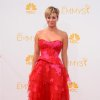 Kaley Cuoco arrives at the 66th Annual Primetime Emmy Awards at the Nokia Theatre L.A. Live on Monday, Aug. 25, 2014, in Los Angeles. (Photo by Jordan Strauss/Invision/AP)