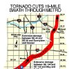 MAY 3, 1999 TORNADO: TORNADO CUTS 19-MILE SWATH THROUGH METRO (TORNADO PATH) MAP