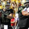 Baylor quarterback Nick Florence (11) passes as offensive tackle Cyril Richardson (68) blocks Southern Methodist linebacker Cameron Rogers (50) during the first half of an NCAA college football game in Waco, Texas, Sunday, Sept. 2, 2012. (AP Photo/LM Otero) ORG XMIT: TXMO108