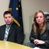 FILE - In this file photo taken Dec. 10, 2012, in Anchorage, Alaska, Anchorage police officer Jeff Bell, left, and FBI Special Agent Jolene Goeden speak at a news conference after confessed serial killer Israel Keyes committed suicide at the Anchorage jail. Keyes showed no remorse as he detailed how he\'d abducted and killed an 18-year-old woman, then demanded ransom, pretending she was alive. His confession cracked the case, but prosecutors questioning him soon realized there was more, he has killed before. Before divulging more details, Keyes committed suicide in his cell. (AP Photo/Mark Thiessen)