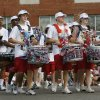 Members of the Santa Fe High School Marching Band move down 2nd St. during the LibertyFest Parade in downtown Edmond, OK, Saturday, July 4, 2009. By Paul Hellstern, The Oklahoman