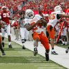 Kendall Hunter of OSU scores a touchdown during the college football game between Oklahoma State University (OSU) and the University of Nebraska at Memorial Stadium in Lincoln, Neb., on Saturday, Oct. 13, 2007. By Bryan Terry, The Oklahoman