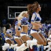 The Thunder Girls perform during the NBA basketball game between the Washington Wizards and the Oklahoma City Thunder at the Oklahoma City Arena in Oklahoma City, Friday, January 28, 2011. The Thunder won, 124-117, in double overtime. Photo by Nate Billings, The Oklahoman