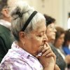 Martinia Martinez prays during an Ash Wednesday service at the Corpus Christi Cathedral in Corpus Christi, Texas on Wednesday, Feb. 22, 2012. (AP Photo/Corpus Christi Caller-Times, Rachel Denny Clow)