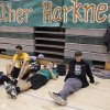 Santa Fe students Alivia Dekker, Phoenix Bills, Curran Scott and Kaden Mendenhall relax during a break during the Heather Harkness Memorial Volleyball Tournament at Santa Fe High School in Edmond Saturday, November 12, 2011. Photo by Doug Hoke, The Oklahoman