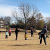 THANKSGIVING MORNING....More kickball. (Photo by Helen Ford Wallace).