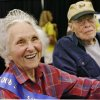 Nova Jean Lowe, 88, and her husband, Daniel, 94, were honored as the longest married couple who participated in a random survey of Oklahoma oldsters who attended the Oklahoma State Fair on Senior Day, when visitors 55 and older were admitted free on Wednesday, Sept. 17, 2008. The couple, from Shawnee, have been married for 69 years. Mova Jean wears a tiara and sash after being named Senior Queen in a separate contest earlier in the day. BY JIM BECKEL, THE OKLAHOMAN