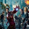 From left, Hawkeye (Jeremy Renner), The Incredible Hulk (voice of Lou Ferrigno), Iron Man (Robert Downey Jr.), Nick Fury (Samuel L. Jackson), Black Widow (Scarlett Johansson), Captain America (Chris Evans) and Thor (Chris Hemsworth) assemble in Marvel\'s