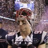 New England Patriots linebacker Niko Koutouvides walks off the field after the Patriots\' 21-17 loss to the New York Giants in the NFL Super Bowl XLVI football game, Sunday, Feb. 5, 2012, in Indianapolis. (AP Photo/Chris O\'Meara) ORG XMIT: SB488