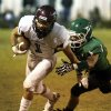 Blanchard\'s Kyle Self is chased down by a Jones tackler. Blanchard vs. Jones high school football at Jones High School on Friday, Oct. 12, 2012. Photo by Jim Beckel, The Oklahoman
