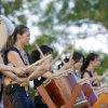 Hibika Taiko Drummers perform during the Children\'s Asian Moon Festival on the University of Central Oklahoma campus, in Edmond, Okla., Friday, Sept. 12, 2008 BY MATT STRASEN, THE OKLAHOMAN.