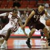 Oklahoma\'s Buddy Hield (3) guards Louisiana\'s Marcelis Hansberry (3) during a men\'s college basketball game between the University of Oklahoma and the University of Louisiana-Monroe at the Loyd Noble Center in Norman, Okla., Sunday, Nov. 11, 2012. Photo by Garett Fisbeck, The Oklahoman