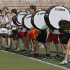 Drummers march in line during Edmond Memorial High School\'s morning band practice in Edmond, OK, Tuesday, July 31, 2012, By Paul Hellstern, The Oklahoman