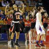 Photo - Booker T. Washington's Kaylan Mayberry (12) reacts after hitting a 3-point shot late in the Class 6A girls championship high school basketball game in the state tournament at the Mabee Center in Tulsa, Okla., Saturday, March 9, 2013. Booker T. Washington beat Bixby, 52-46. Photo by Nate Billings, The Oklahoman