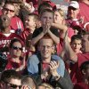 Fans applaud before the college football game between the University of Oklahoma Sooners (OU) and the Ball State Cardinals at Gaylord Family-Oklahoma Memorial Stadium on Saturday, Oct. 1, 2011, in Norman, Okla. Photo by Steve Sisney, The Oklahoman