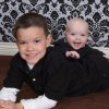 Photo - Sam Hedger is seen with his baby brother, Jake, who died in March at almost 9 months old. PHOTO PROVIDED