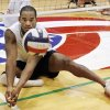 Roderick Green, West Monroe, Louisiana, member of the United States Men\'s Sitting Volleyball Team, practices on the UCO campus in Edmond Thursday, April 10, 2008, for the Paralympics in Beijing, China. BY PAUL B. SOUTHERLAND, THE OKLAHOMAN