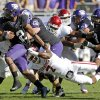 Oklahoma\'s Corey Nelson (7) tries to bring down TCU\'s Trevone Boykin (2) during a college football game between the University of Oklahoma Sooners (OU) and the Texas Christian University Horned Frogs (TCU) at Amon G. Carter Stadium in Fort Worth, Texas, Saturday, Dec. 1, 2012. Oklahoma won 24-17. Photo by Bryan Terry, The Oklahoman