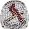 Photo - In this undated photo provided by Heritage Auctions is Stan Musial's 2011 St. Louis Cardinals World Championship ring that Heritage Auctions of Dallas said Monday, Nov. 11, 2013 sold for $191,200 at auction. Musial died in January at age 92. His family kept most of his belongings but grandson Brian Schwarze said Musial's four-bedroom Ladue home was stuffed with so many things he'd collected over the years that relatives decided on an auction. (AP Photo/Heritage Auctions)