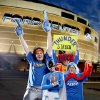 Thunder super fans from left, Zeb Benbrook,