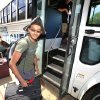 Photo -  Casady sophomore Agnish Chakraburtty flashes a smile before boarding the bus to the airport to participate in the National Science Olympiad. Photo by David McDaniel, The Oklahoman  <strong>David McDaniel -   </strong>