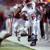 OU\'s Ryan Broyles (85) stretches for a first down during the second half of the college football game between the University of Oklahoma Sooners (OU) and the University of Nebraska Cornhuskers (NU) on Saturday, Nov. 7, 2009, in Lincoln, Neb. Photo by Sarah Phipps, The Oklahoman