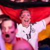 Photo - German soccer fans celebrate after their team scores at the Brazil World Cup semi final being played in Belo Horizonte, Brazil, between Germany and Brazil at a public viewing event called 'Fan Mile' in Berlin, Tuesday, July 8, 2014. (AP Photo/Markus Schreiber)