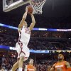 Oklahoma\'s Blake Griffin (23) dunks the ball over Syracuse\'s Arinze Onuaku (21) during the first half of the NCAA Men\'s Basketball Regional at the FedEx Forum on Friday, March 27, 2009, in Memphis, Tenn. PHOTO BY CHRIS LANDSBERGER, THE OKLAHOMAN