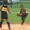 Courtney Walker makes a play on the softball field. PHOTO PROVIDED