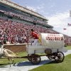 OU\'s the Sooner Schooner leaves the field after a score during Oklahoma\'s Red-White football game at The Gaylord Family - Oklahoma Memorial Stadiumin Norman, Okla., Saturday, April 11, 2009. Photo by Bryan Terry, The Oklahoman