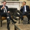 Photo - Spanish Prime Minister Mariano Rajoy, left, speaks as he meets with President Barack Obama in the Oval Office of the White House in Washington, Monday, Jan. 13, 2014. (AP Photo/Jacquelyn Martin)