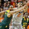 Baylor\'s Rico Gathers (2) steals the ball beside Oklahoma State\'s Le\'Bryan Nash (2) during an NCAA college basketball game between Oklahoma State University (OSU) and Baylor at Gallagher-Iba Arena in Stillwater, Okla., Saturday, Feb. 1, 2014. Baylor won 76-70. Photo by Bryan Terry, The Oklahoman