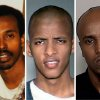 FILE - This combination of undated file photos shows, from left: Mohamud Said Omar, Abdifatah Yusuf Isse and Salah Osman Ahmed. Ahmed and Isse, who are among more than 20 young men who left Minnesota since 2007 to join al-Shabab, are expected to testify against Omar who is accused of helping to send fighters and money to the al-Qaida linked group in Somalia. Omar faces five terror-related charges in a federal a trial in Minneapolis. (AP File Photos)